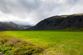 Countryside south iceland big green Royalty Free Stock Image