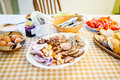 Countryside table setting Royalty Free Stock Photo