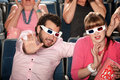 Couple With 3D Glasses Royalty Free Stock Photography