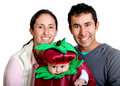 Couple with a baby Royalty Free Stock Photos