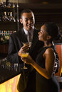 Couple at bar. Stock Photography
