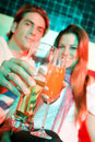 Couple in a bar Royalty Free Stock Images