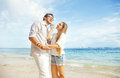 Couple on a beach happy Royalty Free Stock Photo