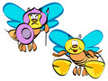 Couple bee illustration Royalty Free Stock Images