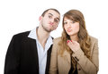 Couple blows kisses Royalty Free Stock Photo