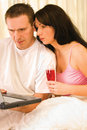 Couple Browsing Internet Royalty Free Stock Image