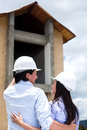 Couple building their dream house Stock Images