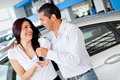 Couple buying a car Stock Photography