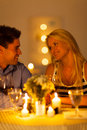 Couple candlelight dinner Stock Image