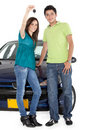 Couple with a car Royalty Free Stock Photo