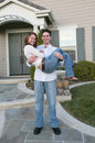 Couple Celebrating New Home Stock Image