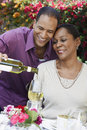 Couple Celebrating Together With Champagne Royalty Free Stock Photography