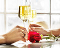 Couple Celebration Drinks Champagne Love Concept Royalty Free Stock Photo