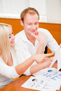 Couple checking their finances Royalty Free Stock Photo