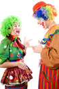 A couple of cheerful clowns Stock Images