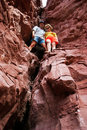 Couple climbing Royalty Free Stock Images