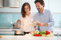 Couple cooking dinner Royalty Free Stock Photo