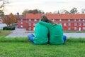 Couple in Copenhagen Royalty Free Stock Photo