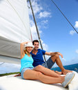 Couple on a cruising day Royalty Free Stock Photo