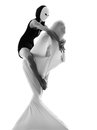 Couple dancer performer love concept Stock Photography