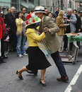 Couple dancing at the Easter Parade on 5th avenue in New York