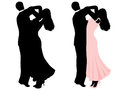 Couple dancing illustration of a isolated on white Stock Photography