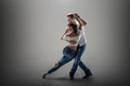 Couple dancing social danse Royalty Free Stock Photo