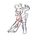 Couple dancing tango. Royalty Free Stock Photo