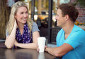 Couple date Royalty Free Stock Photo