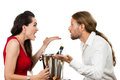 Couple on a date arguing Royalty Free Stock Images