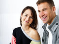 Couple on date in restaurant man and woman Royalty Free Stock Photography
