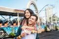 Couple Dating Fun Park Enjoyment Amusement Concept Royalty Free Stock Photo