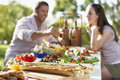 Couple Dining Al Fresco Stock Image