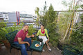 Couple Dining Outdoors Royalty Free Stock Photography