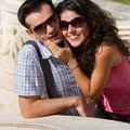 Couple do sightseeing in Athens Stock Image