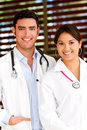 Couple of doctors Royalty Free Stock Photo