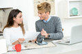 Couple With Documents Calculating Finance At Home Royalty Free Stock Photo