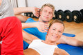 Couple doing Sit-ups Stock Image