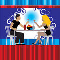 Couple drink wine at restaurant Royalty Free Stock Images
