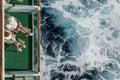 Couple drinking on cruise balcony Royalty Free Stock Photo