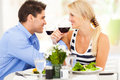 Couple drinking wine Stock Photos