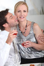 Couple drinkingwine Stock Images