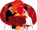Couple enjoying fancy dinner Royalty Free Stock Photo