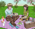 Couple Enjoying Picnic Royalty Free Stock Image