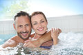 Couple enjoying in spa center Royalty Free Stock Photo