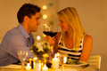 Couple enjoying wine Stock Photos
