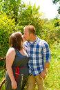 Couple in a Field Stock Images