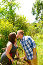 Couple in a Field Stock Image