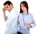 Couple fighting Royalty Free Stock Photo