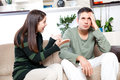 Couple fighting image of young having quarrel Royalty Free Stock Photo